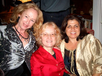 Art-Poem-Music collaborators: poet Elizabeth Kirschner, composer Pam Marshall, visual artist Sirarpi Heghinian Walzer