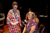 IHS45 Memphis: My friend Marilyn Kloss gets the Service Medal from IHS, with Heidi Vogel, Exec Secretary